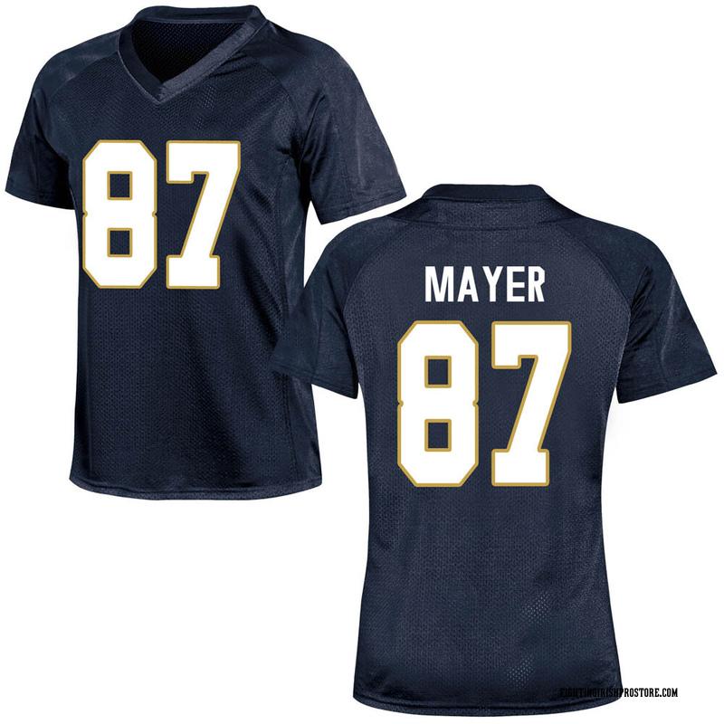 Replica Women's Michael Mayer Notre Dame Fighting Irish Navy Blue Football College Jersey
